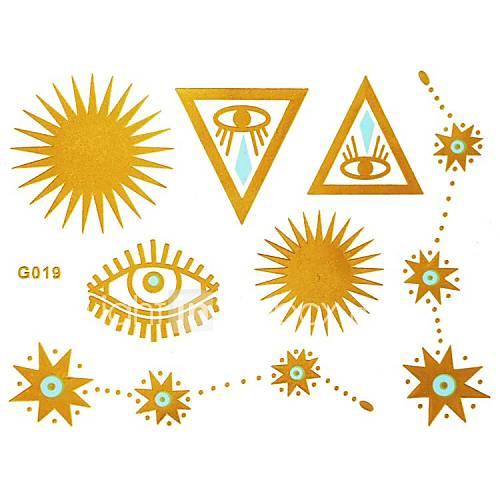 1pc Gold und Blau Tattoo Sticker 15x11.5cm
