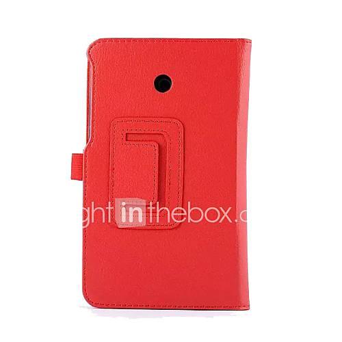 pajiatu PU-Leder Litchi Textur 3 fach Flip mit Standplatzabdeckung Kastenhaut für asus Notizblock 7 me70cx 7''inch Tablette