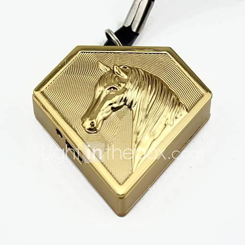 persönliche Gravur Pferd Goldmetall Elektronik-Feuerzeug
