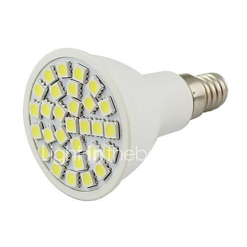 E14 5W 30 SMD 5050 380 LM Warm White / Cool White Decorative LED Spotlight DC 12 V