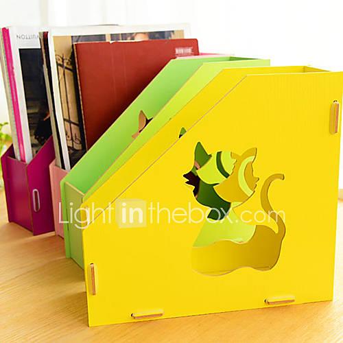 4830 diy kreative Holz Buch Ablagekorb
