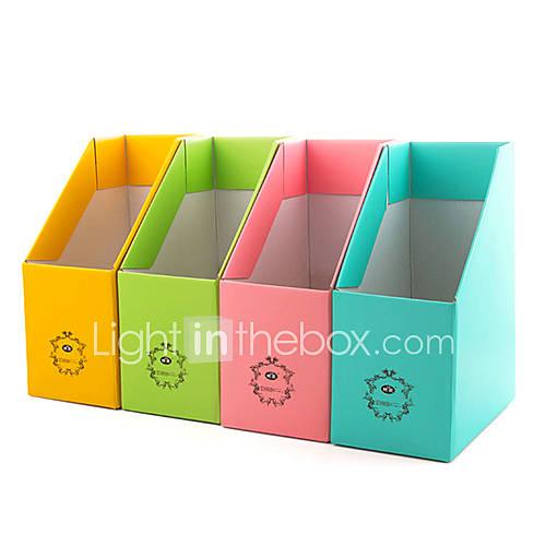 bunten Papier Desktop-Datei und Magazin Aufbewahrungsbox k2892