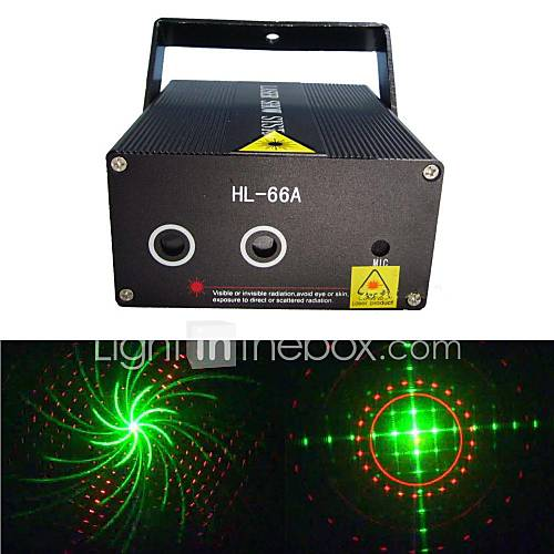 lt-hl66a whirly Bild roten und grünen Laser-Projektor (grün: 50mW rot: 100mW)