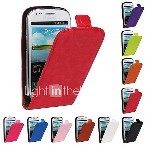 Case For Samsung Galaxy Samsung Galaxy Case Flip Full Body Cases Solid Color PU Leather for S3 Mini