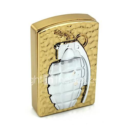 persönliche Gravur Granatmuster Goldmetall Elektronik-Feuerzeug