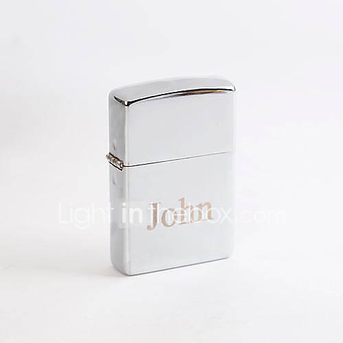 personalisierte gravierten silbernen Metall Öl leichter
