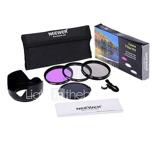 neewer 55mm UV  CPL  FLD Filter Kit-Set für Canon EOS Rebel