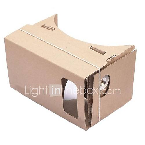DIY Cardboard Virtual Reality 3D Glasses for iPhone 5S/ Samsung Galaxy S4 mini / S3 mini / Nokia / LG / MOTO