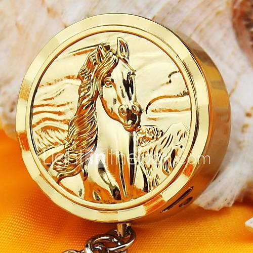 persönliche Gravur horsegold Metall Elektronik-Feuerzeug mit Schlüsselanhänger