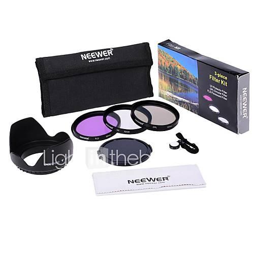 neewer 52mm UV  CPL  FLD Filter Kit-Set für Canon EOS Rebel