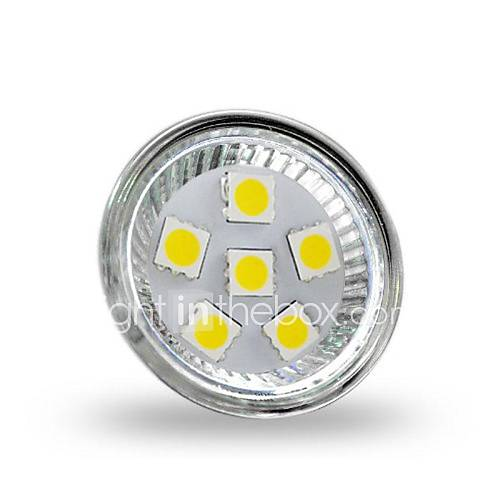 MR11 2W 6x5050smd 200lm 6000-6500K kaltem Weißlicht LED Spot Lampe (12 V DC)