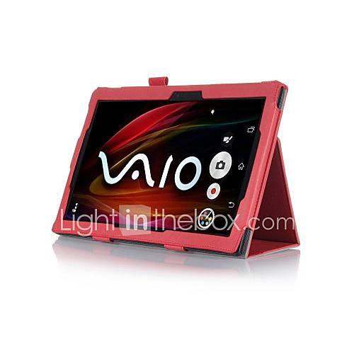 pajiatu PU-Leder Stand Tablet Kastenabdeckung mit Handhalter und Kartenslot für Sony Xperia z2 10.1
