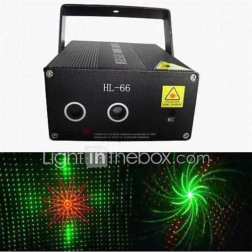 lt-hl66 whirly Bild roten und grünen Laser-Projektor (grün: 50mW rot: 100mW)