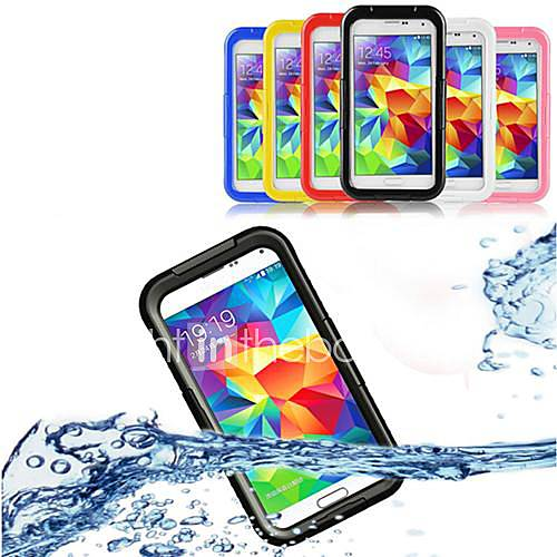 Case For Samsung Galaxy Samsung Galaxy Case Waterproof Transparent Full Body Cases Solid Color PC for S5 S4 S3