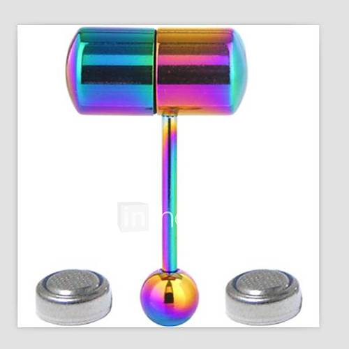 Stainless Steel Vibrating Barbell Earring Tongue Ring Piercing Body Jewelry