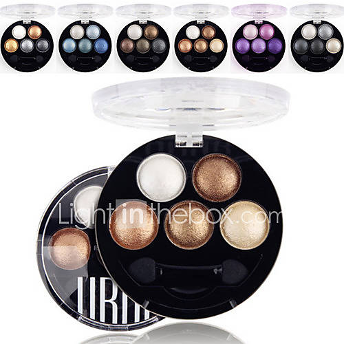 5 Colors UBUB Eyeshadow Palette Professional Baked 3in1 MatteGlitterShimmer Metallic Color Eye Shadow Powder Cosmetic Palette