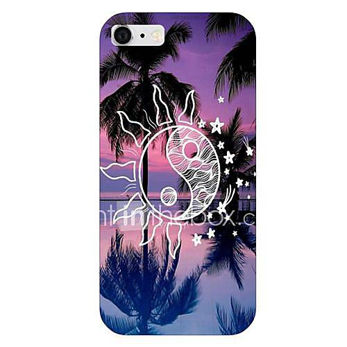 Sun Coconut Tree Pattern Back Case for iPhone 6