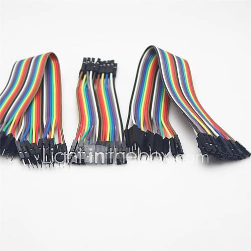 universal masculino para hombre / hombre a mujer / mujer para arduino cables DuPont femeninos set - multicolor Descuento en Miniinthebox