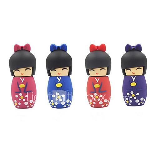 32GB Cartoon Japanese Doll USB 2.0 Flash Pen Drive