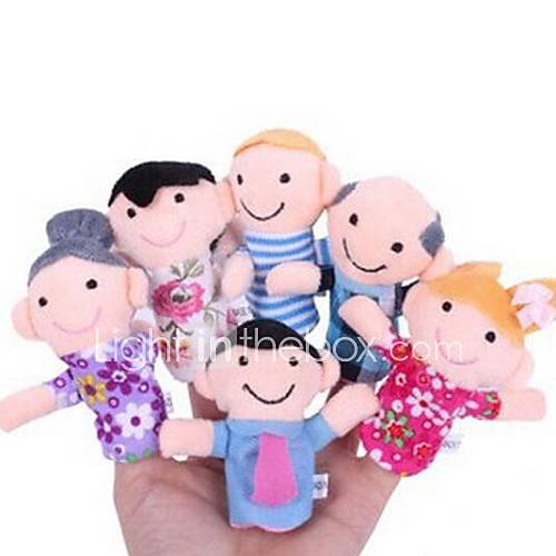 Action Figure Finger Puppets Puppets Cute Lovely Textile Plush Girls' Gift 6pcs