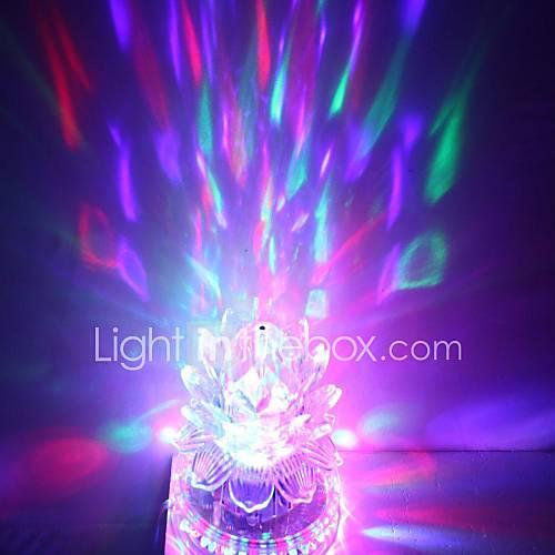 US plug 3x3W High Power RGB Light LED Crystal Magic and Sunflower Stage Light Rotating Lamp (85-265V)