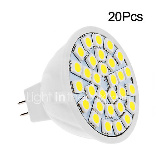 5W GU5.3(MR16) LED Spotlight 30 SMD 5050 420 lm Warm White / Cool White DC 12 V