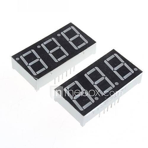 Serial four digit 7-segment LED display module