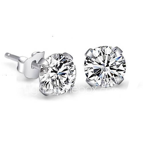 Pendiente La imitación de diamante Pendientes cortos Joyas Mujer Boda / Fiesta Plata de ley / Brillante 2 piezas Plateado Descuento en Miniinthebox
