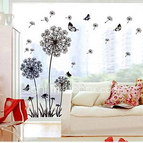 Decorative Wall Stickers - Plane Wall Stickers Botanical Living Room / Bedroom / Study Room / Office / Removable