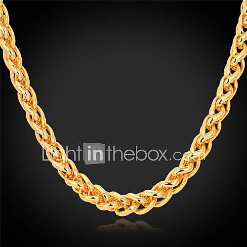 Women's Choker Necklaces Chain Necklaces Gold Plated Alloy Fashion Costume Jewelry Jewelry For Wedding Party Daily Casual