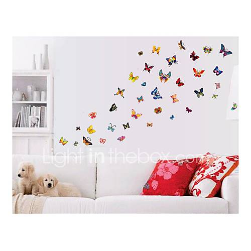 Wall Stickers Wall Decals Style Butterfly Color PVC Wall Stickers