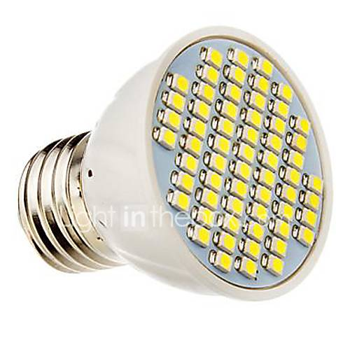 E26/E27 3.5 W 60 SMD 3528 360 LM Warm White/Cool White Decorative Spot Lights DC 12/AC 12/AC 24/DC 24 V
