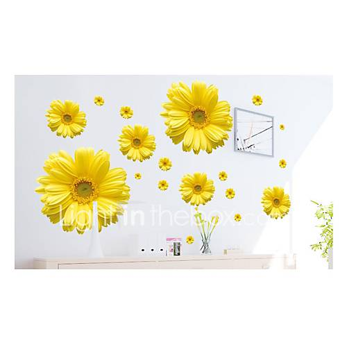 Wall Stickers Wall Decals Style Daisy PVC Wall Stickers