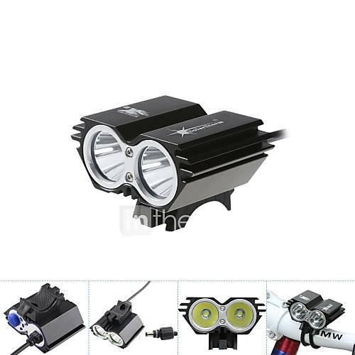Front Bike Light 5000Lm 2x CREE XM-L T6 LED Head Front Bicycle Lamp Headlamp Headlight