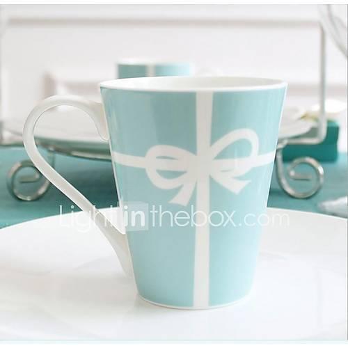 "Tiffany  Creative The Wedding Gift Cup  milk Cup Coffee Cup Spoon Cup  Coffee  Bone China 3.4""3.4""3.9"