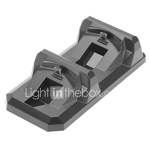 nuevo controlador cargador doble soporte base de carga para el regulador PS4 Mini doble carga para el mando PS4 Descuento en Miniinthebox