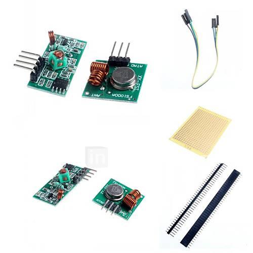 Módulo 433m superregeneration transmisor inalámbrico (alarma antirrobo) y módulo receptor de accesorios para arduino Descuento en Miniinthebox