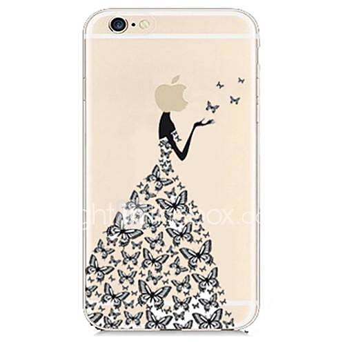Butterfly Dress Transparent Back Case for iPhone 6  iPhone Cases