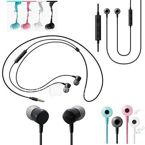 Ecouteurs ( Noir/Bleu/Rose/Blanc , Microphone/Règlage de volume/Ecouteurs/Réduction de bruit ) - Classique - Dans l'oreille - Cablé