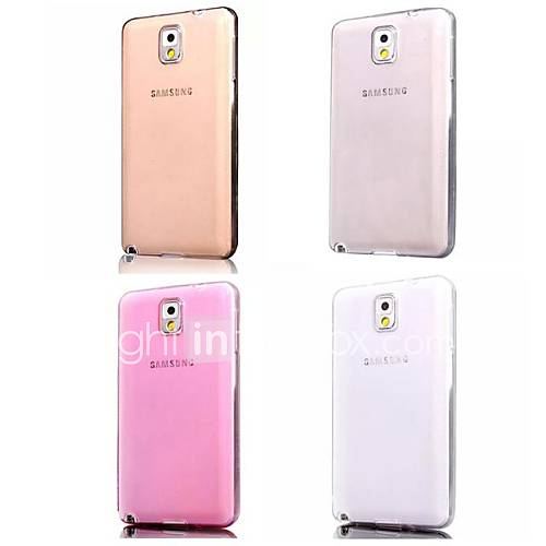 Super Flexible Clear Crystal Simple TPU Soft Transparent Back Cover Case for Samsung Galaxy Note 3
