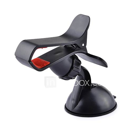 JIMI S-3 Universal 360 Degree Rotation Suction Cup Holder Bracket for Iphone  GPS  More (Black)