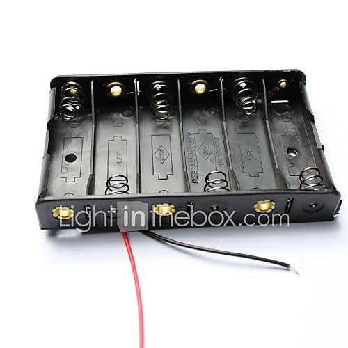 9v 6 x caja caso soporte de la batería aa bricolaje con cables Descuento en Miniinthebox