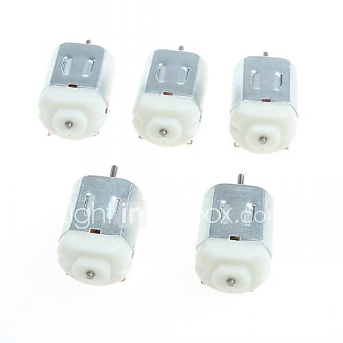 130 motores de corriente continua en miniatura pequeño motor de cuatro ruedas pequeño motor (5 x) Descuento en Miniinthebox