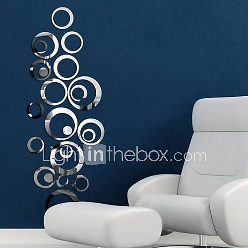 Decorative Wall Stickers - Mirror Wall Stickers Mirrors Living Room Bedroom Bathroom Kitchen Dining Room Study Room / Office Boys Room