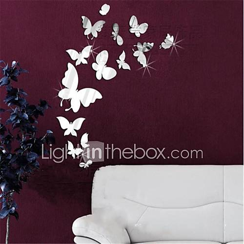 Animals 3D Wall Stickers Mirror Wall Stickers Decorative Wall Stickers Vinyl Home Decoration Wall Decal Wall