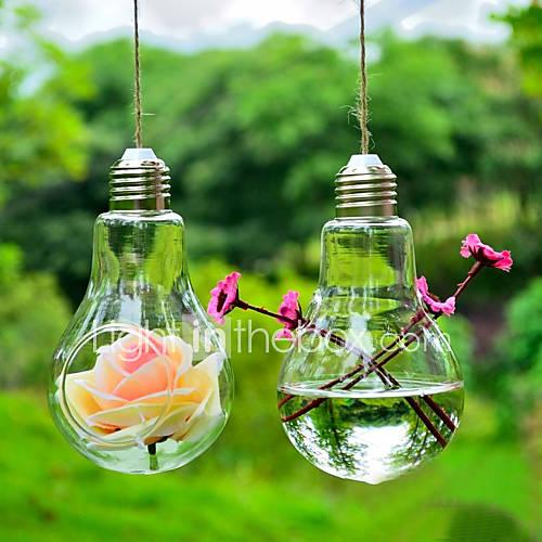 "4.3""H Creative Hanging Micro Landscape Glass Bottle Bulb Shape"