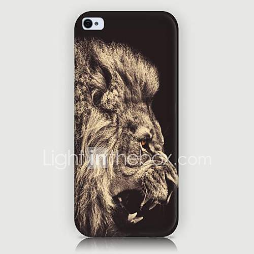 Lion's Head Pattern Back Case for iPhone5/5S