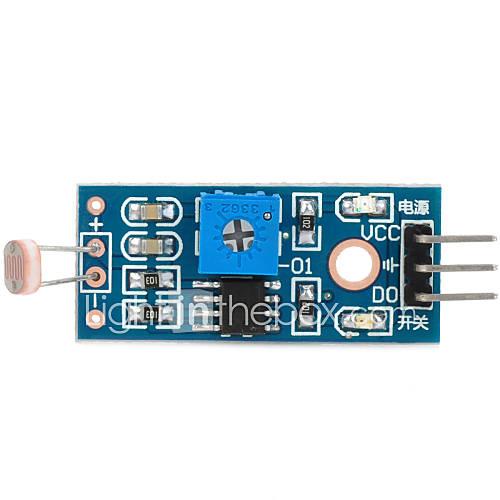 Módulo de sensor de resistencia de foto 1 vía para Arduino (funciona con tablas oficiales Arduino) Descuento en Miniinthebox