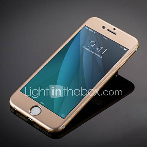 Fashion Luxury Titanium Alloy Tempered Glass Full Coverage Screen Protector for iPhone 6S Plus/6 Plus