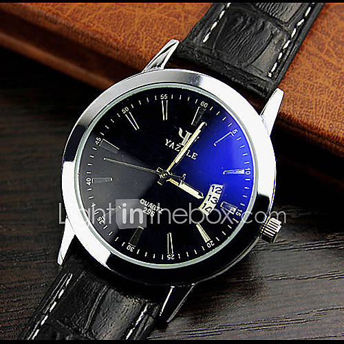 High-grade Leather Blue Ray Glass Business Quartz Watch Wrist Watch Cool Watch Unique Watch